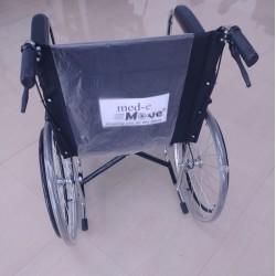 Basic Premium Wheel Chair Chrome Polished-Black