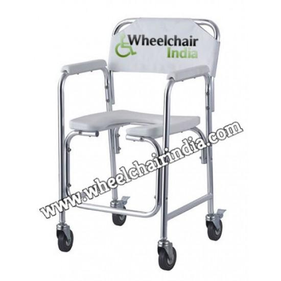 Karma Rainbow 10 Aluminium Commode Chair with Wheels
