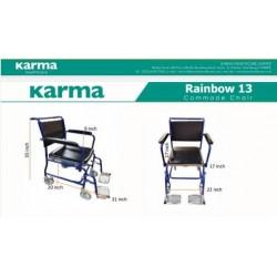 Karma Rainbow 13 Shower Commode Chair